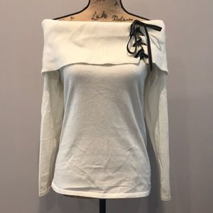 White House Black Market off the shoulder sweater